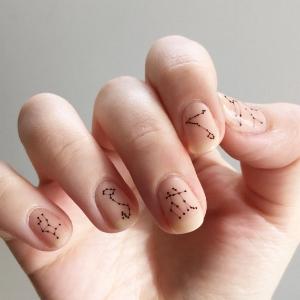 jsfrnNailArt 's  Constellation Nail Tattoos  ($10)