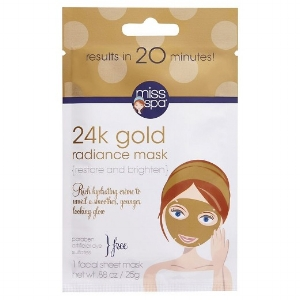 Miss Spa®   Restore and Brighten 24k Gold Radiance Mask   ($5)