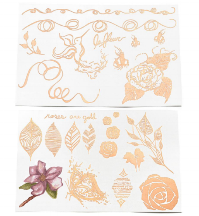 """Mr. Kate 's  """"Roses Are Gold"""" BeautyMarks Tattoos  ($14)"""