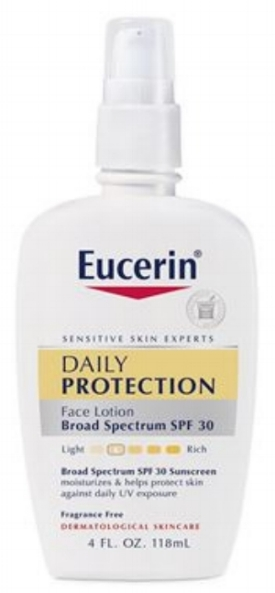 Eucerin   Moisturizing Face Lotion Sunscreen SPF 30   (price varies by retailer)