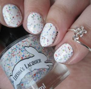 Leesha's Lacquer 's  Fruity O's Cereal Rainbow White Crelly Nail Polish  ($8.00) [p/c:  @mglazer07