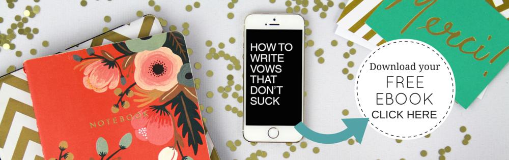 How to write vows that don't suck - Bridechilla Club