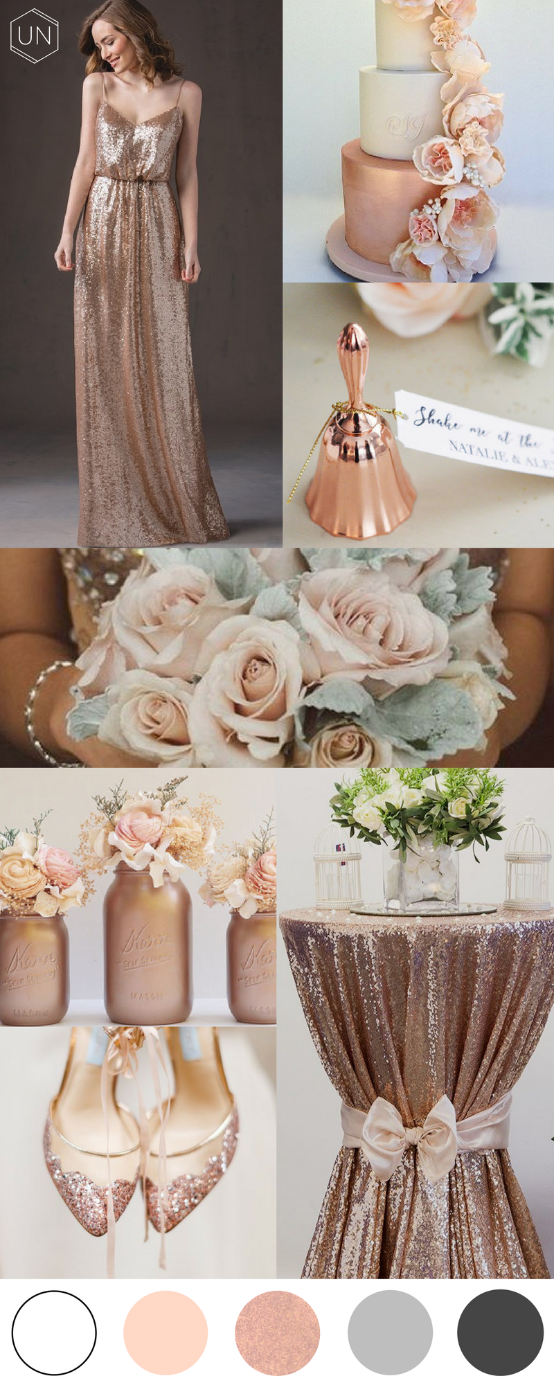 Unbridely - rose gold wedding inspiration