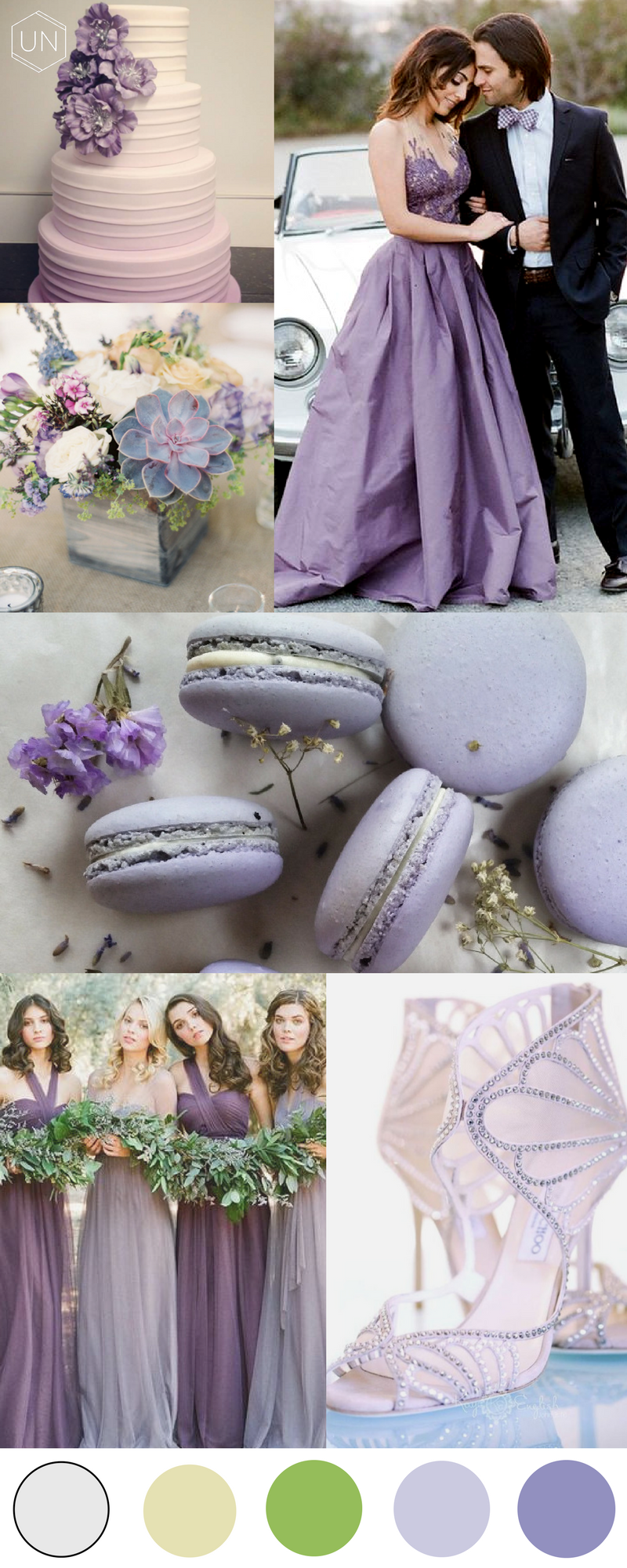 Unbridely Greenery Colour Palette - Feminine Lilac