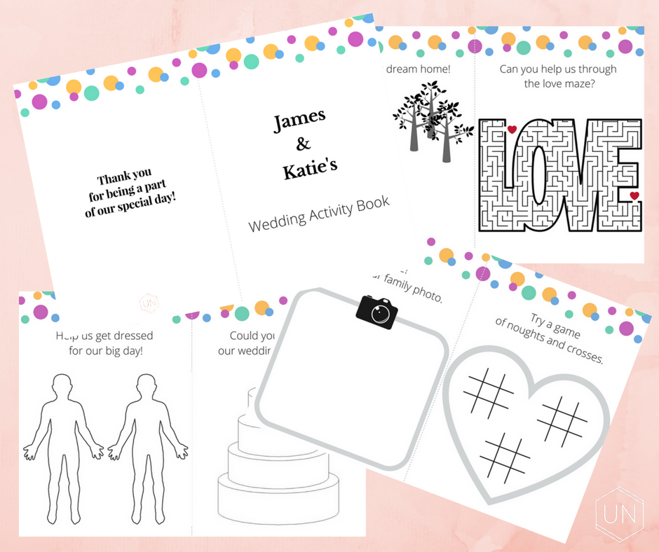 Kids Wedding Activity Booklet - Unbridely