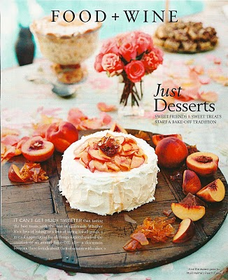 Maili's Winning Peach Cake from a Santa Barbara Magazine article.