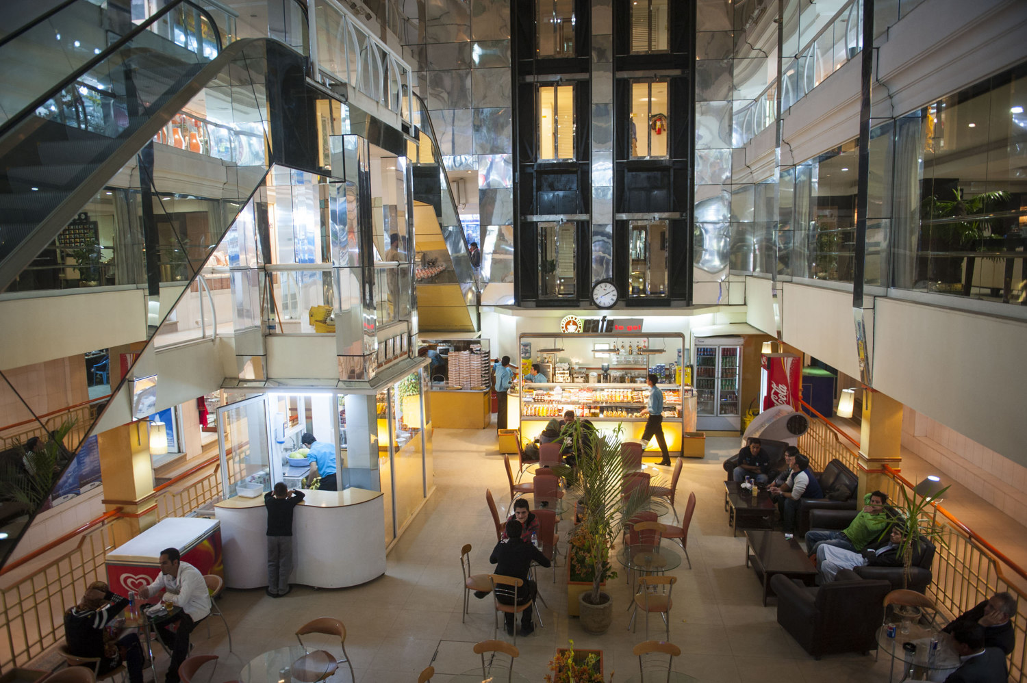 Kabul City Center, Afghanistan's first modern shopping center is a nine stories tall in the posh section of Shar-e-now, Kabul Afghanistan. Security is heavy and shoppers are profiled, and must be well-heeled to be allowed entrance.