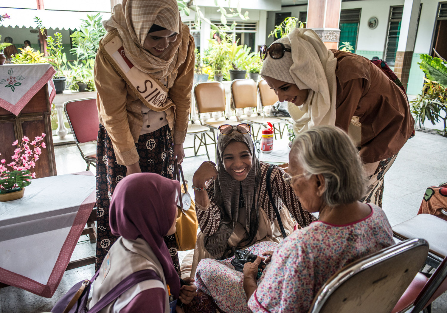 At an elderly home, the girls are tested on their charity and compassion.