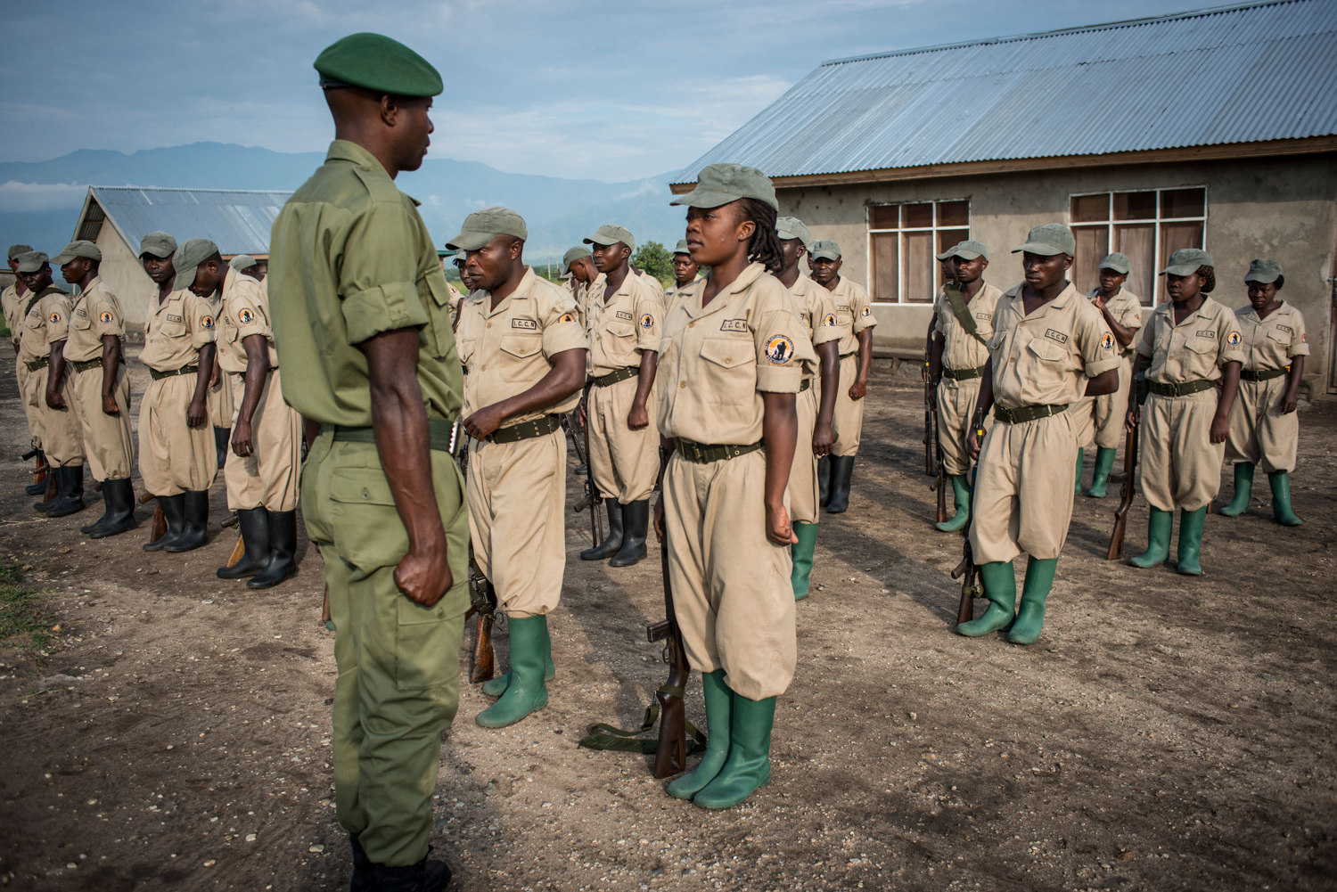 Rangers-in-Training present themselves to the commanding officer each morning.