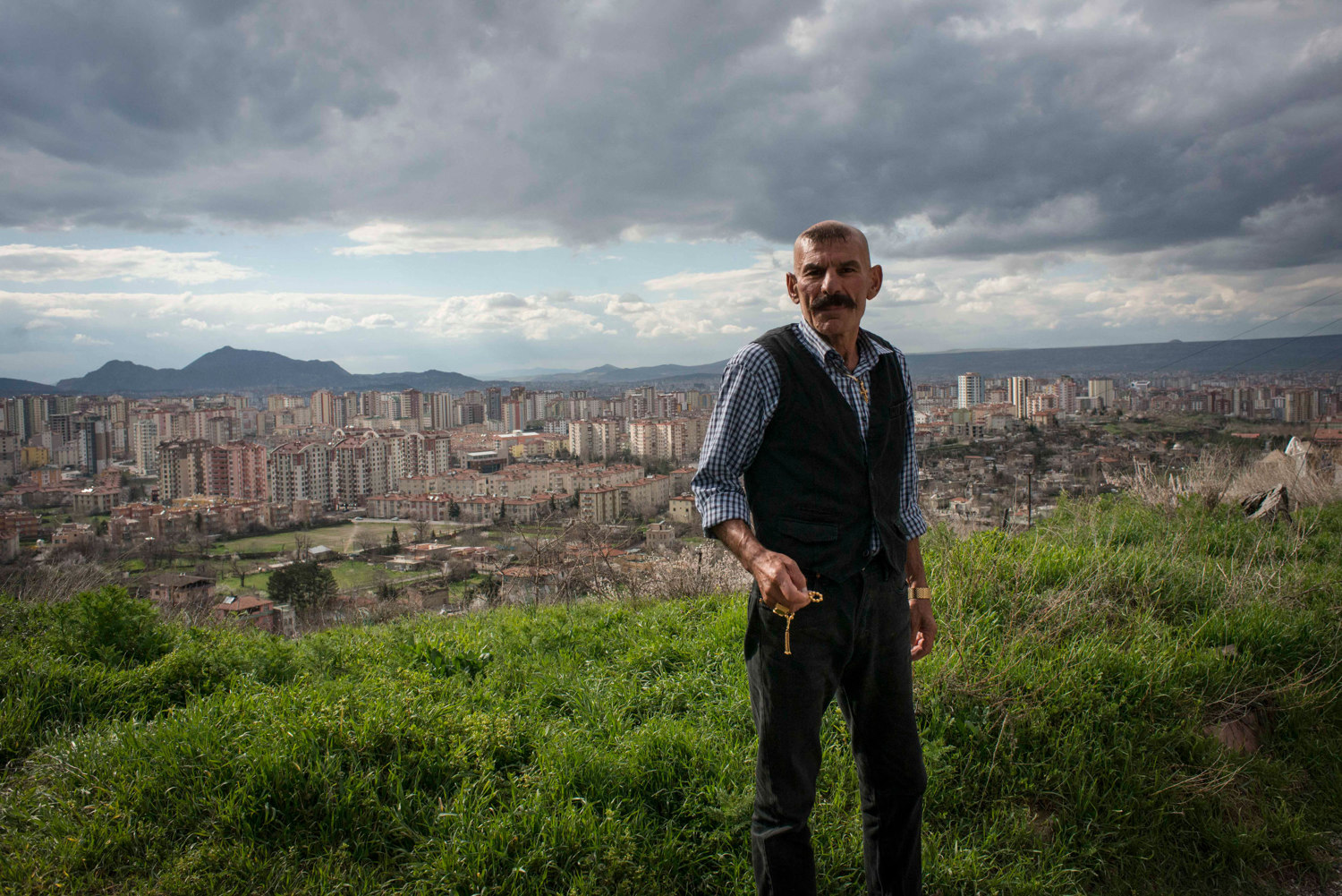 Sarkis Teke and a view of Kayseri, photographed for the Wall Street Journal.