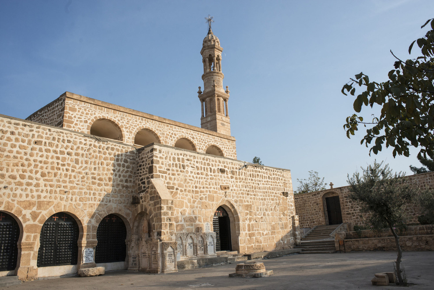 The exterior of the chapel of Mor Abraham, a monastary located on the outskirts of Midyat, Turkey.