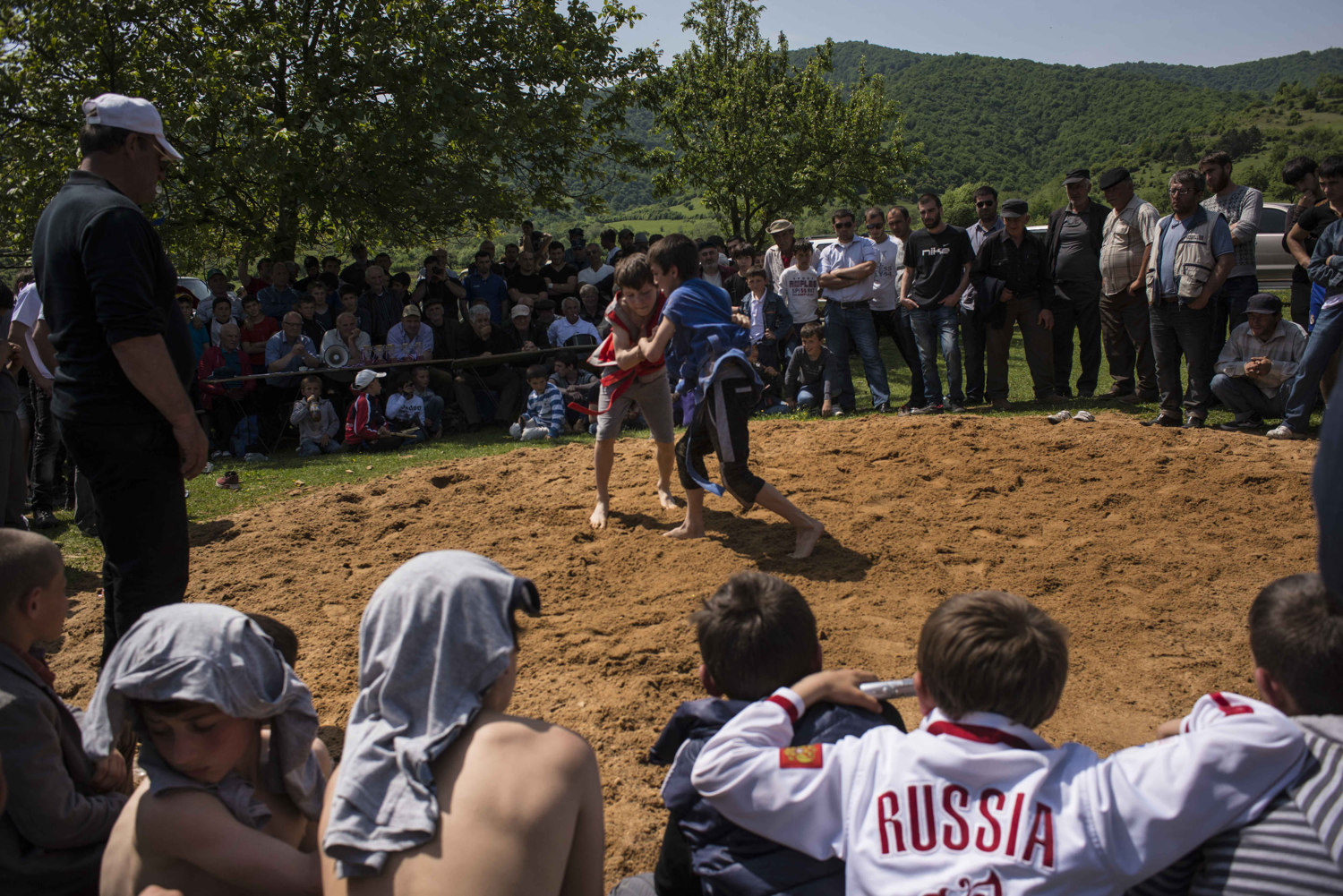 A wrestling tournament is held in honor of Victory Day.