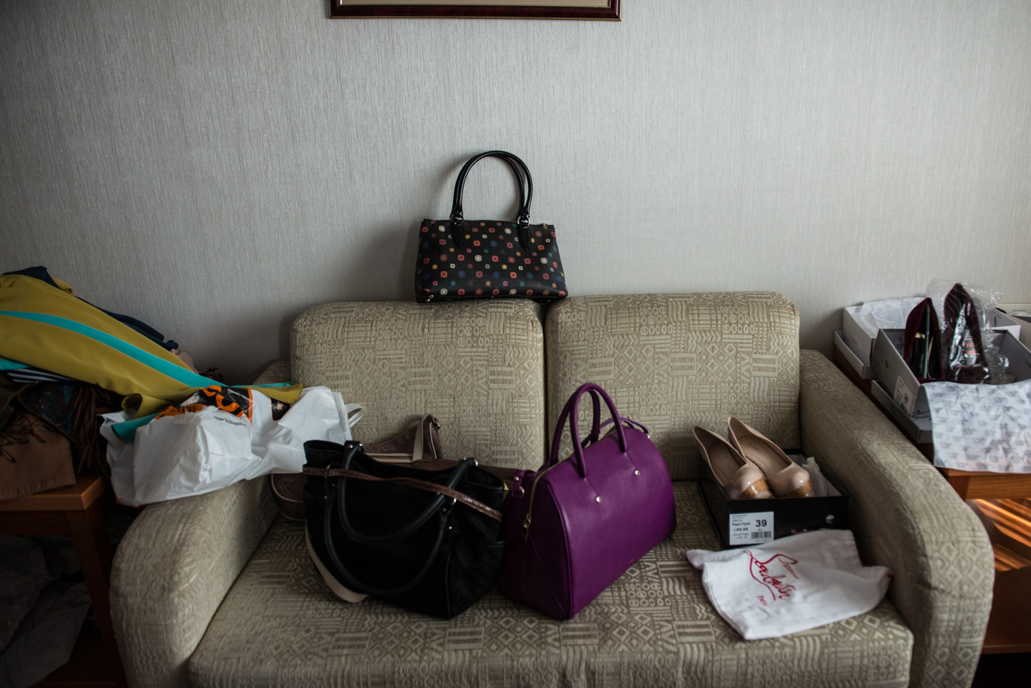 Bags and shoes to be used for a fashion shoot for ALA Magazine, the first magazine in Turkey for conservative women.