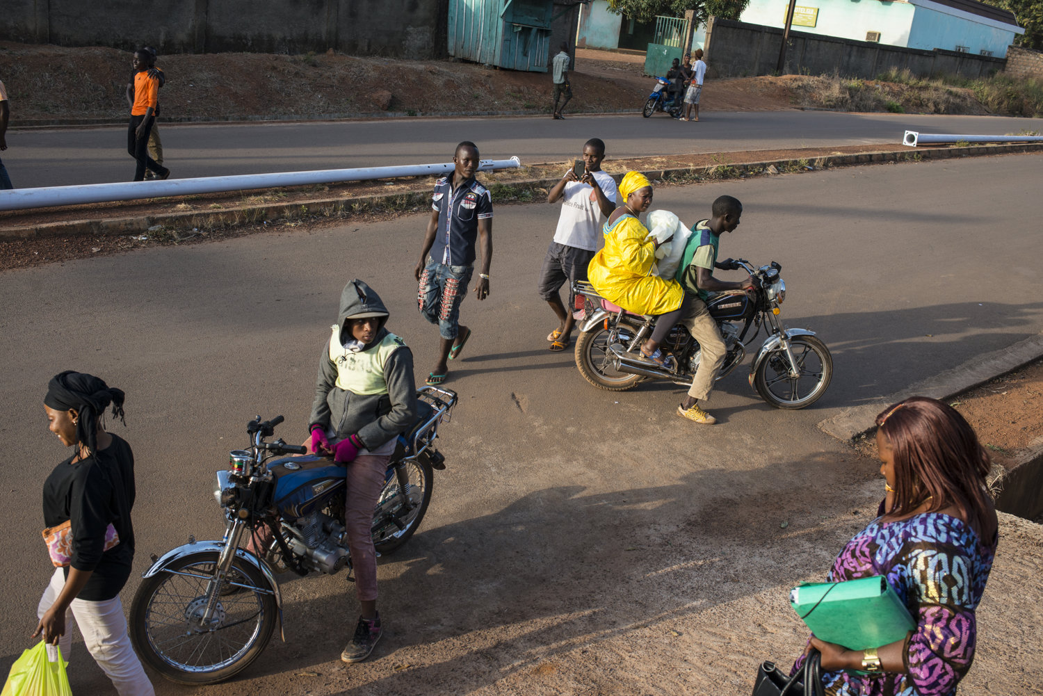 Students leave the final day of training and take motorbikes or walk to their homes.