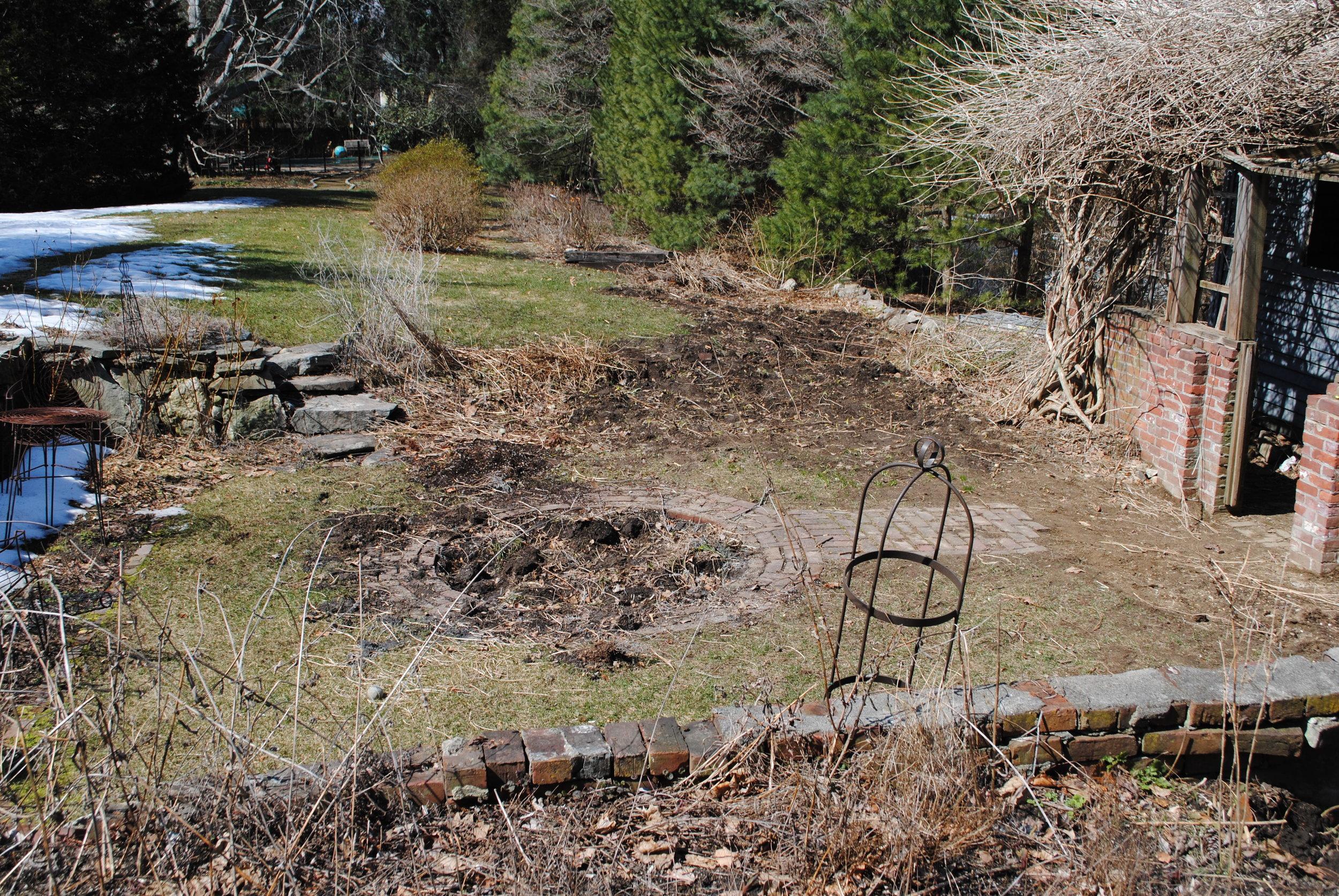 Sunken herb garden, Concord, MA  .