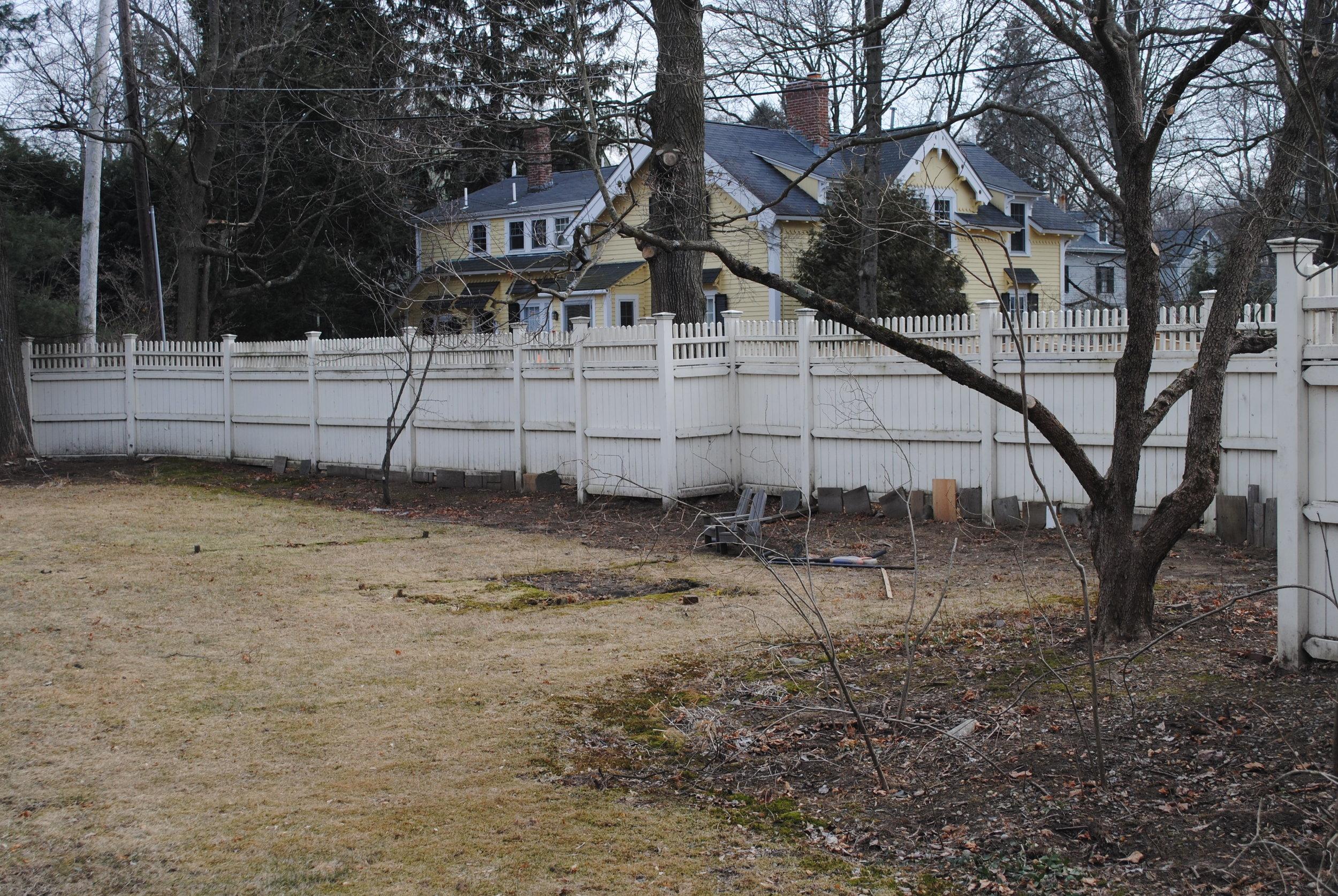Fenced yard, Concord, MA