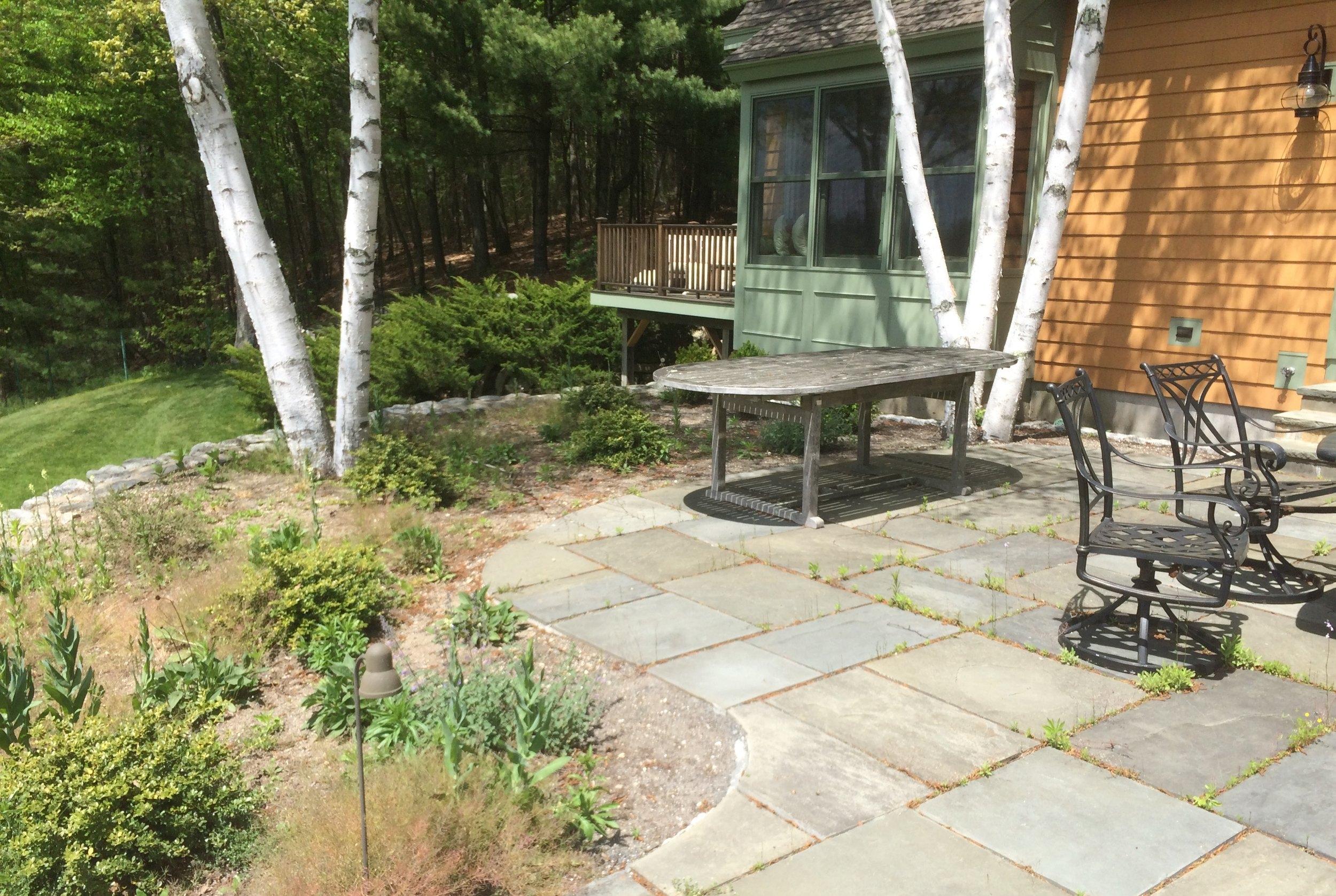 Rear raised patio, Concord, MA