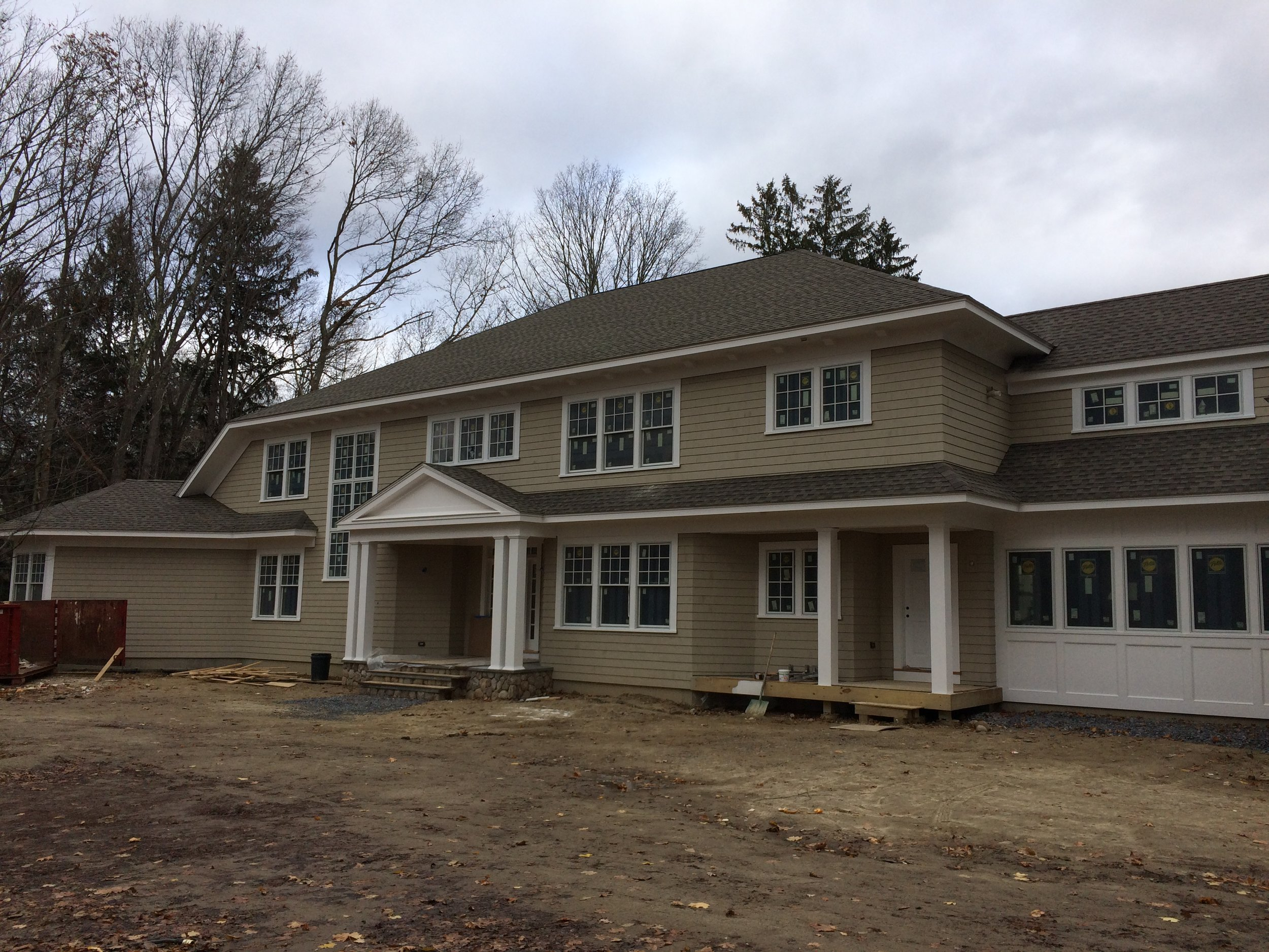 Newly constructed house, Concord, MA,