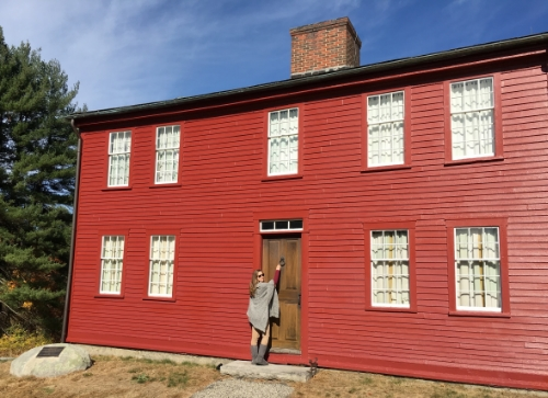 Visiting Fruitlands, where the Alcott family lived for a time.