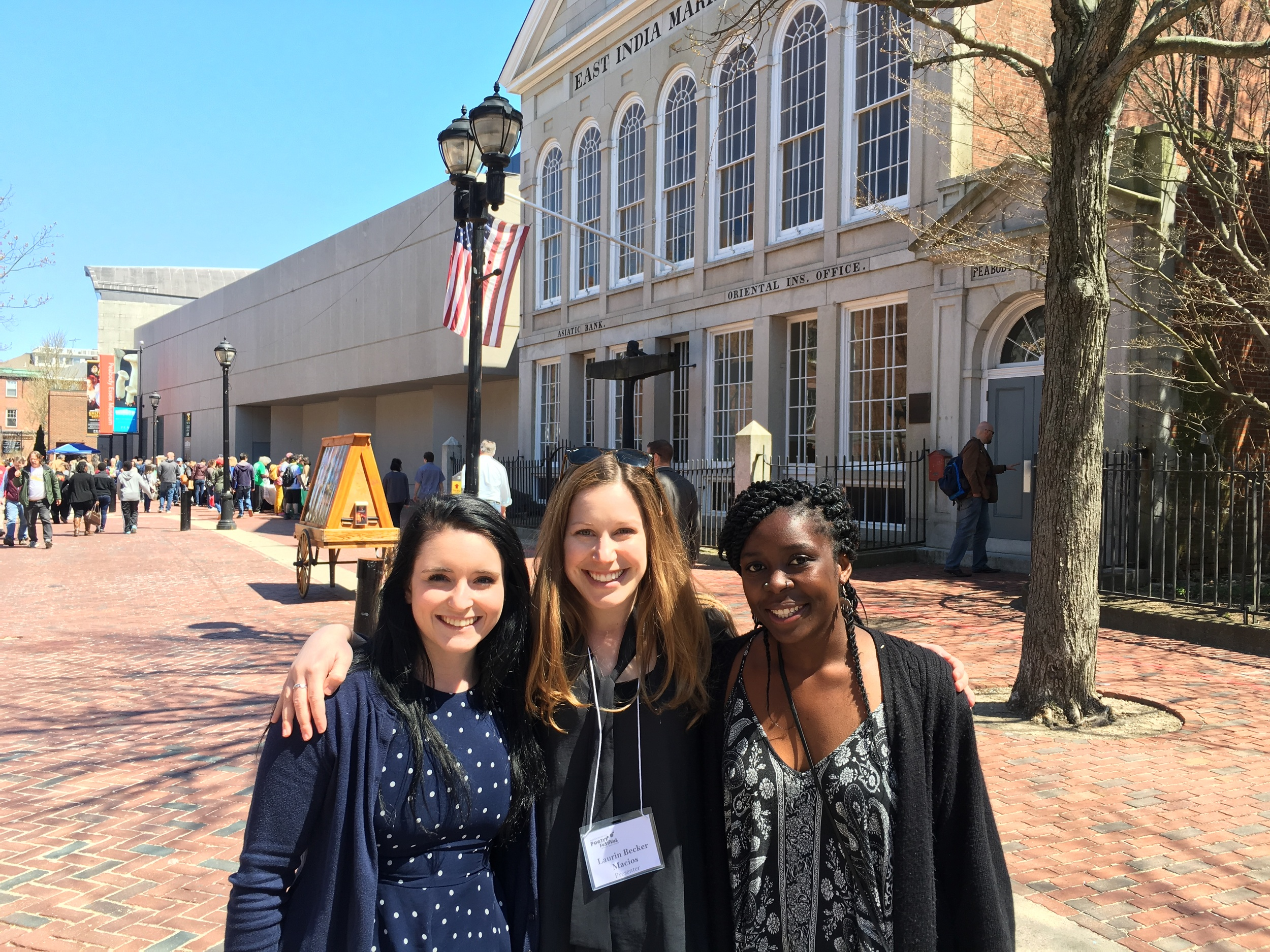 with the lovey Katherine & Sharon, Mass Poetry interns extraordinaire
