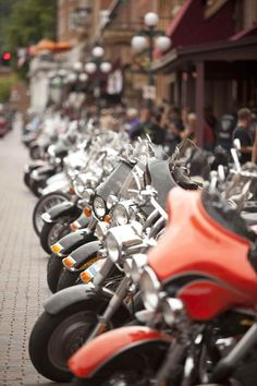 Bike Lineup on Lower Main Street, Deadwood