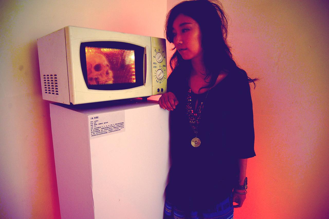 "Interactive installation  "" Fire- nirvana """
