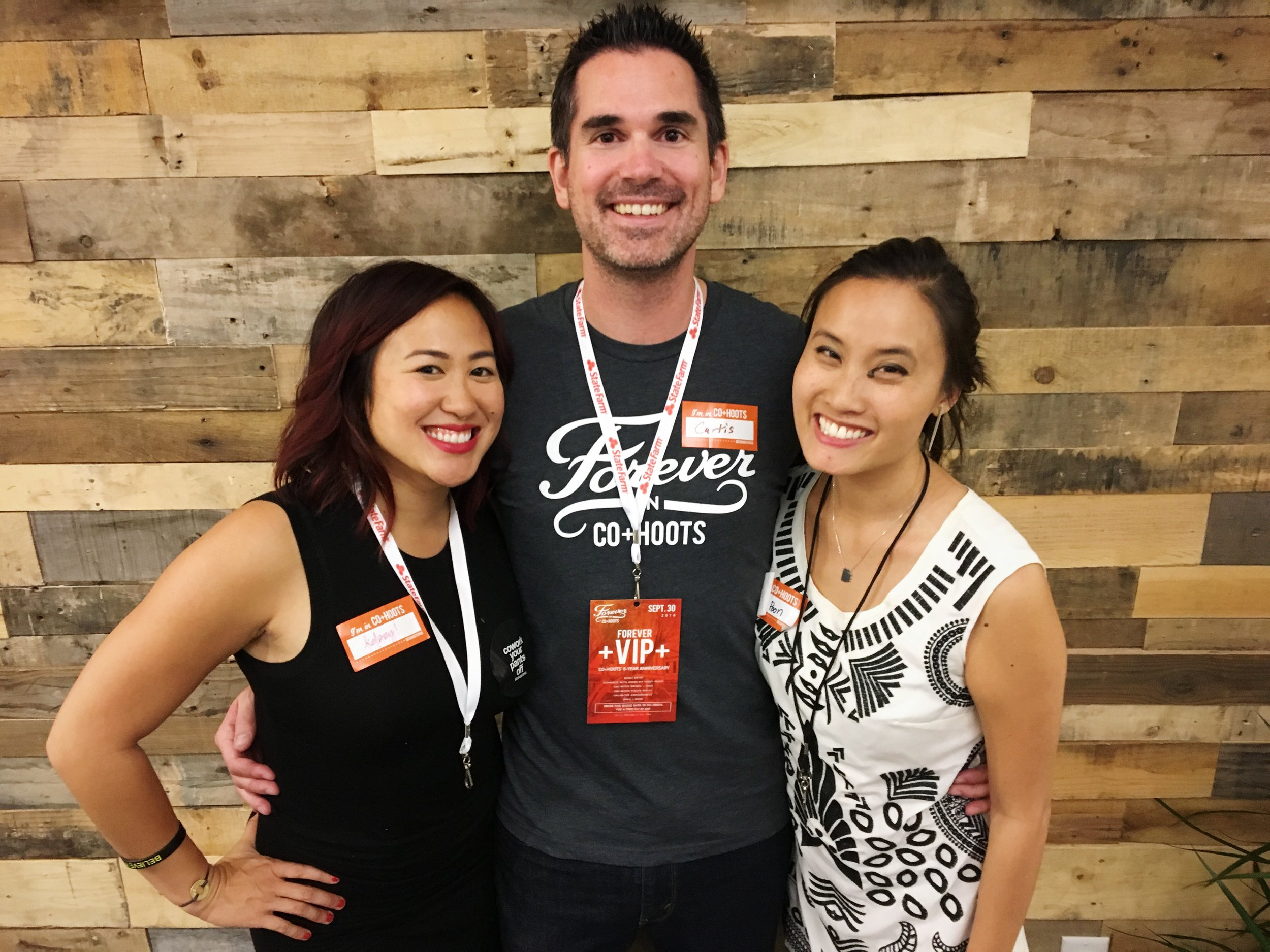 Kelsey Wong (Employee #1), Curtis Miller (OG Cohootian), and Jenny Poon (Fearless Founder)