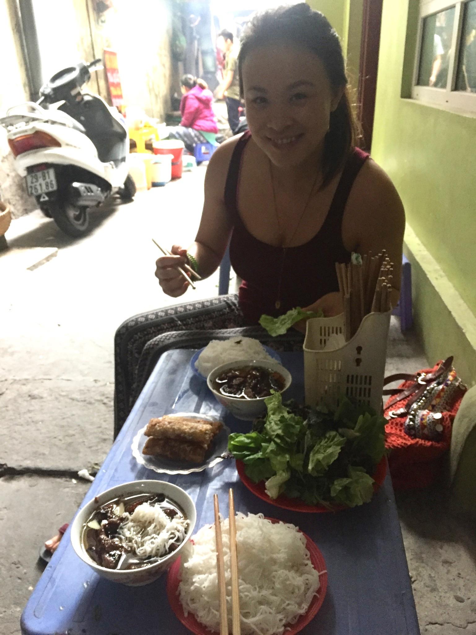 Bún chả, Alleyway, Hanoi, Vietnam