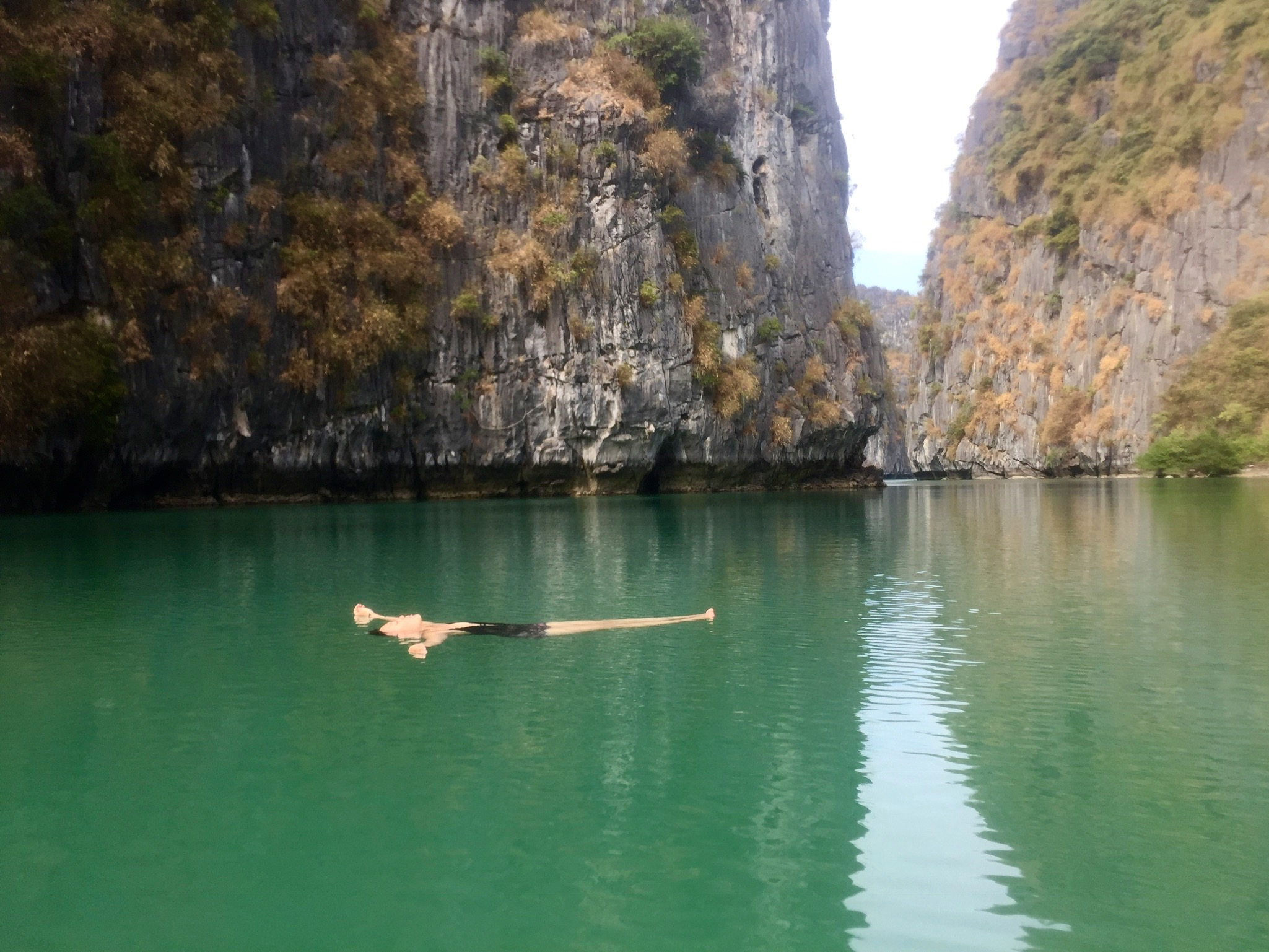 "Floating in ""Mergoddess Cove"", Cat Ba Island, Vietnam"