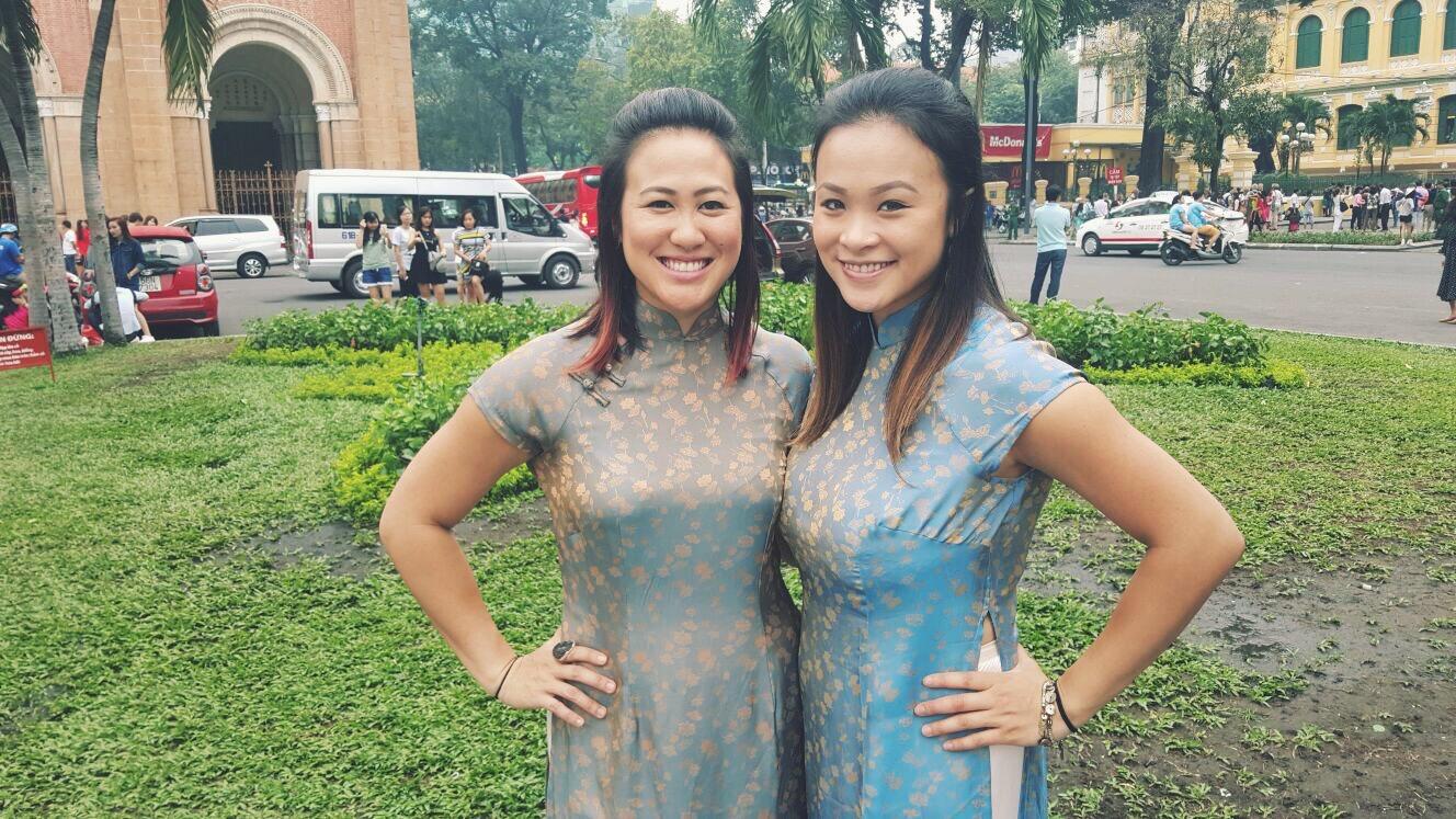 Tailor-made traditional Vietnamese Ao Dai dresses