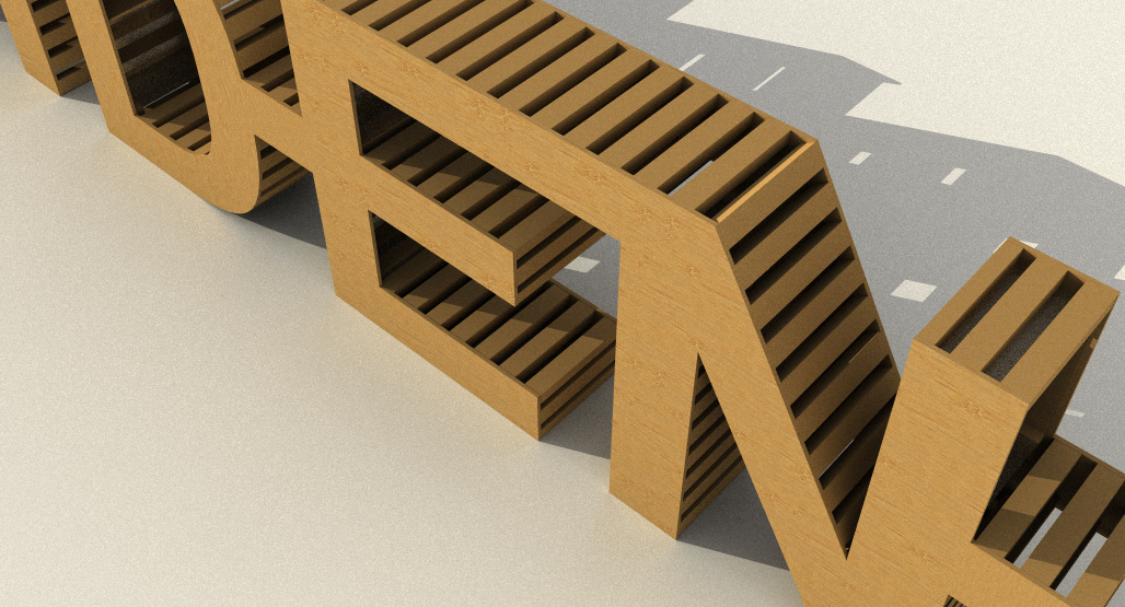 Construction would be similar to the way skateboard ramps are built