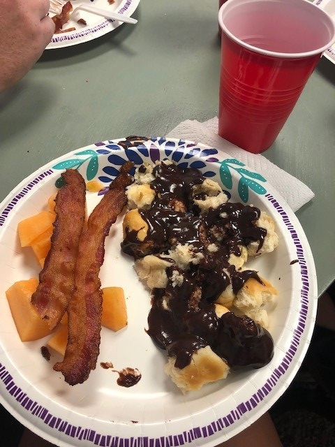 This day, we had biscuits and chocolate gravy (and fruit and bacon) prepared by our very own Katie Holcomb (another missionary). Thanks Katie!!