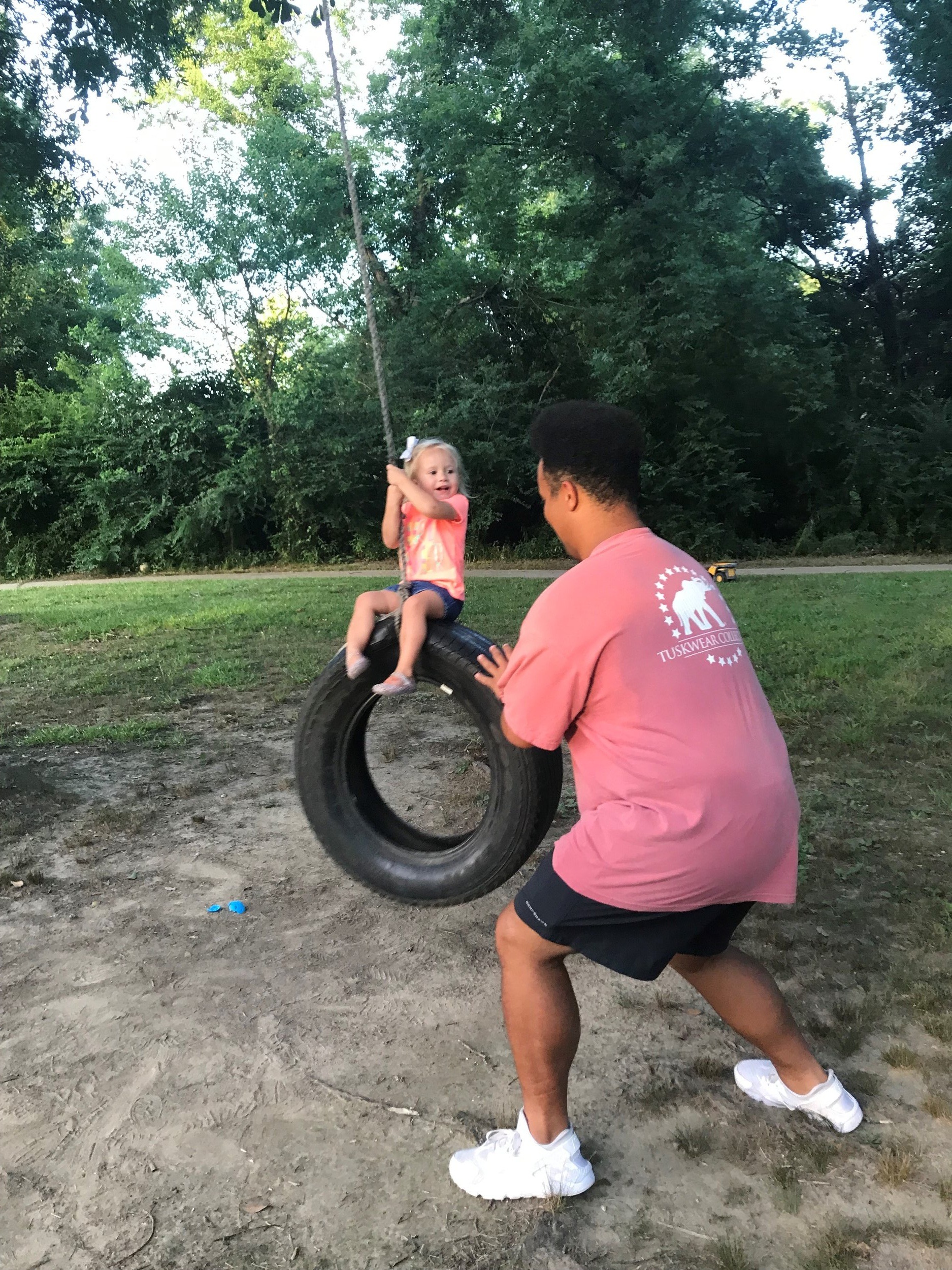 Fun on the tire swing!