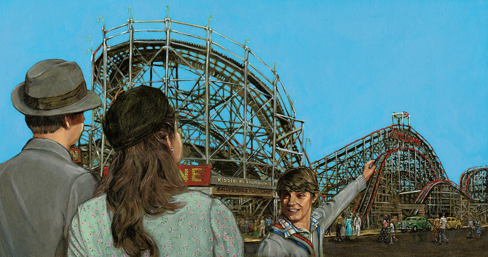 Arriving at ConeyIsland