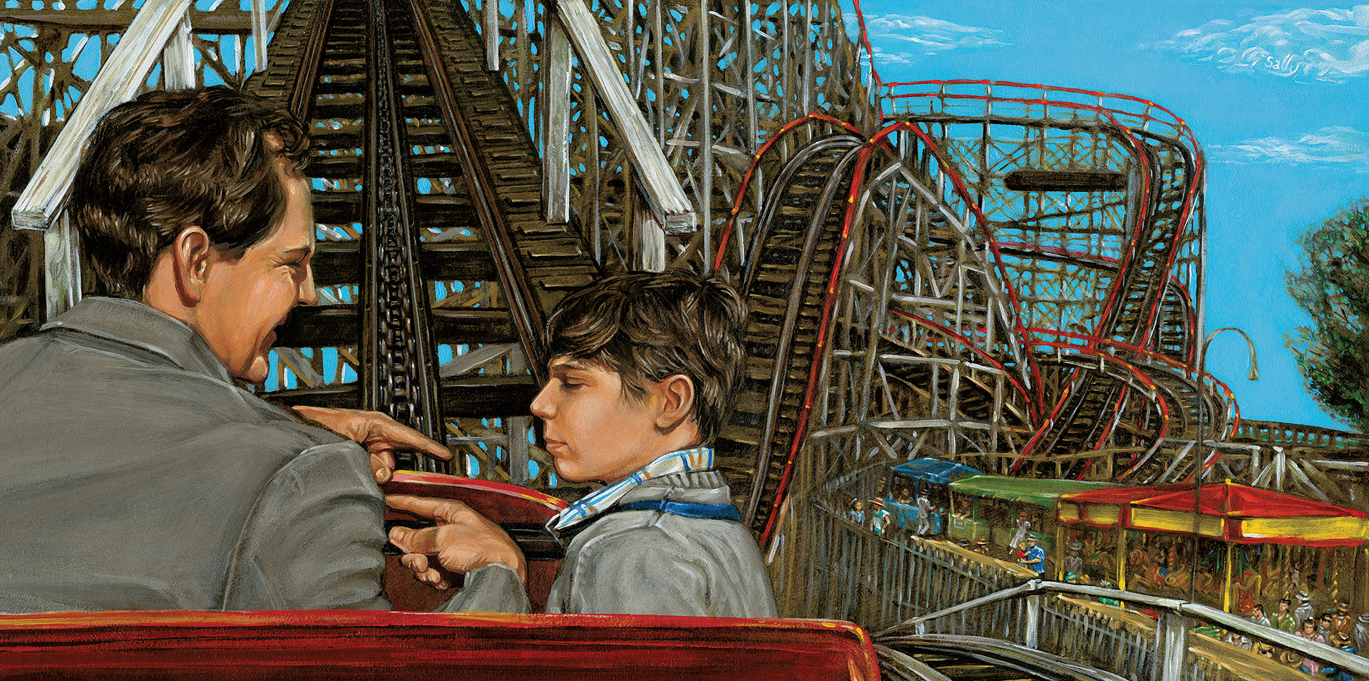 Father and Son Ascending The Coaster