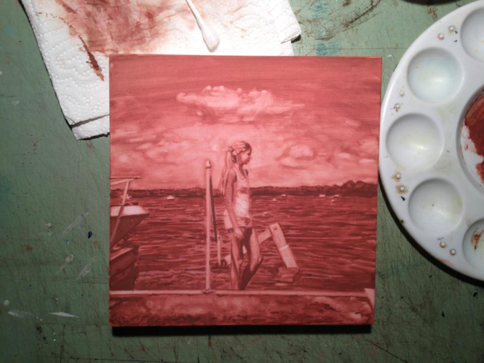 Brooke By The Dock Underpainting