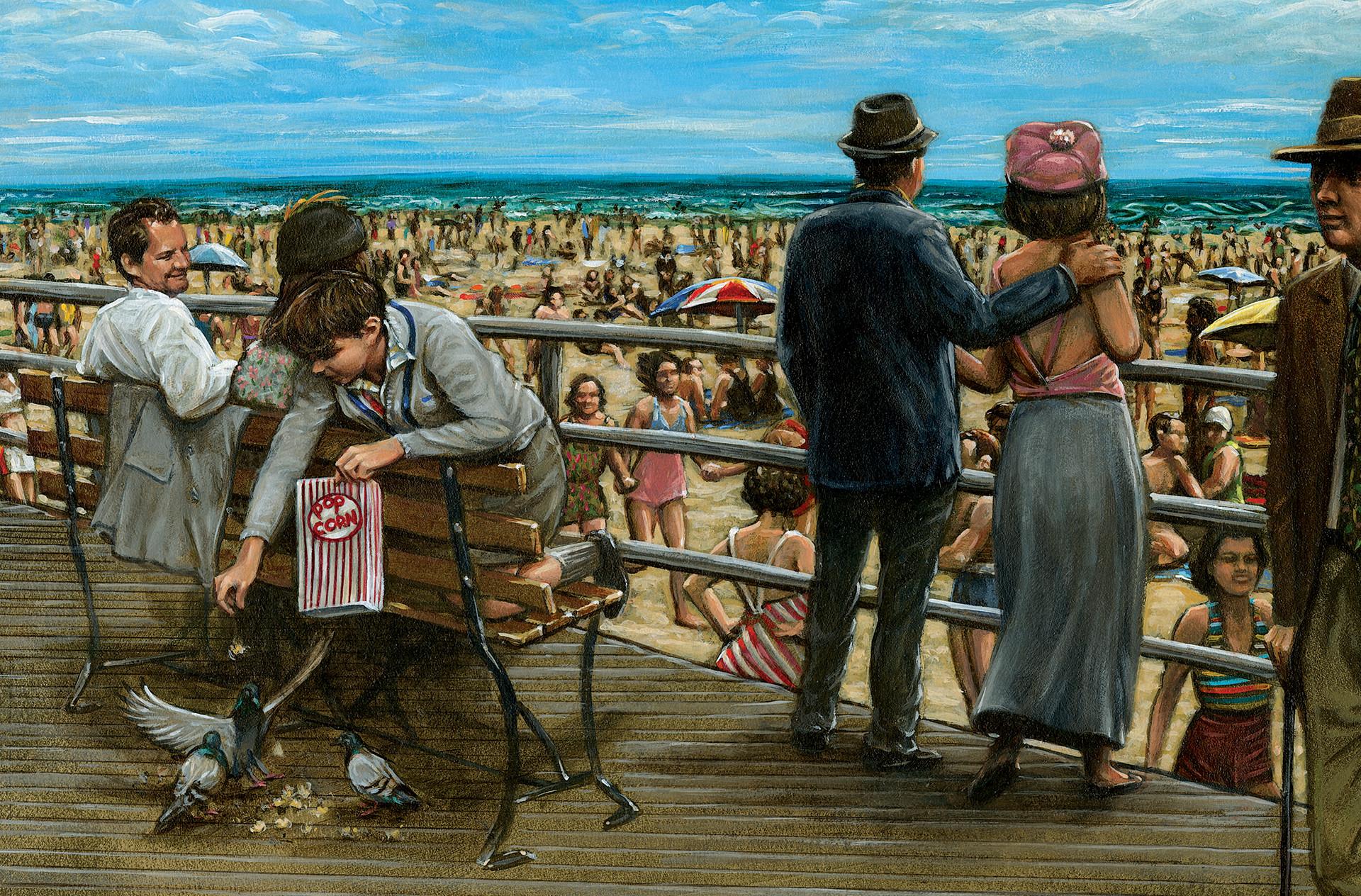 Coney Island Beach and Boardwalk