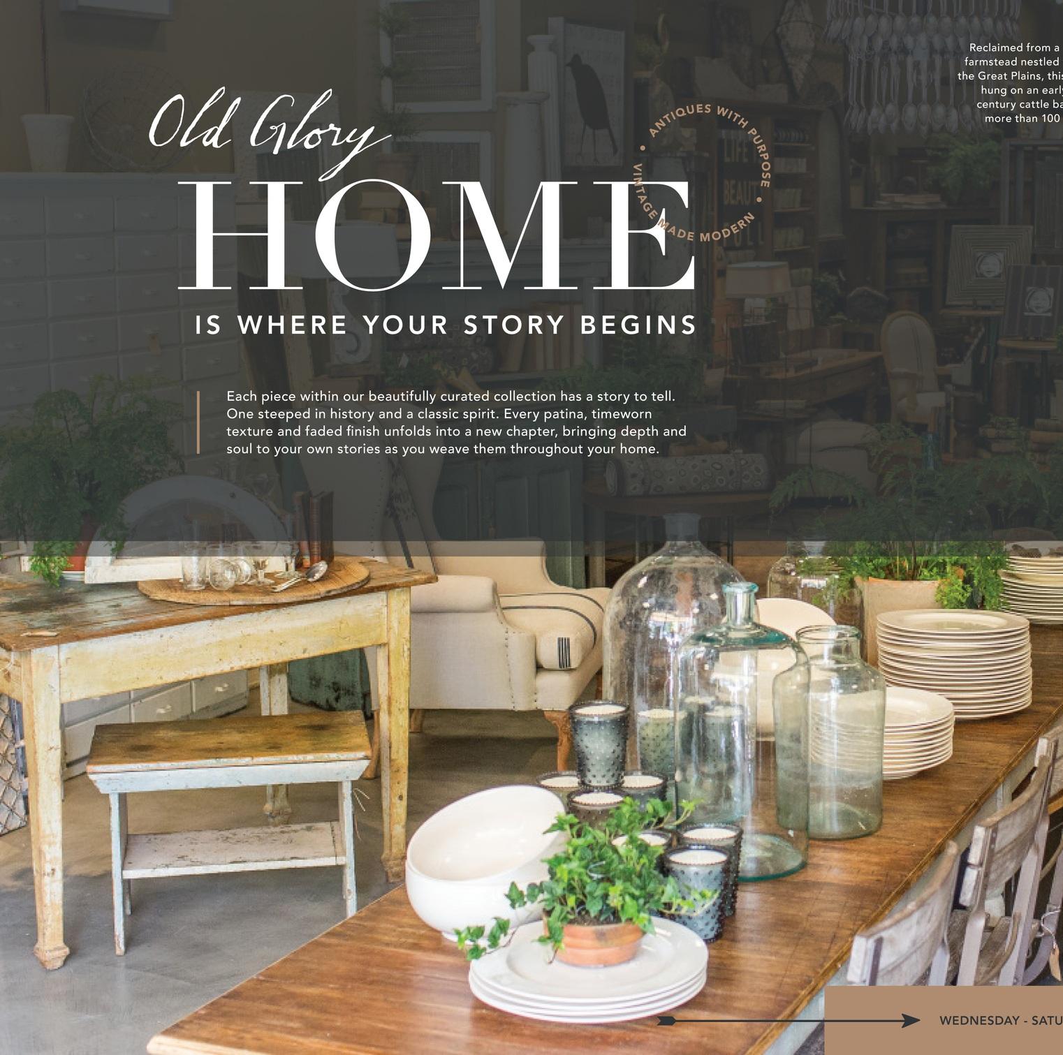 Old Glory - Voice & Tone | Website | Print Ads