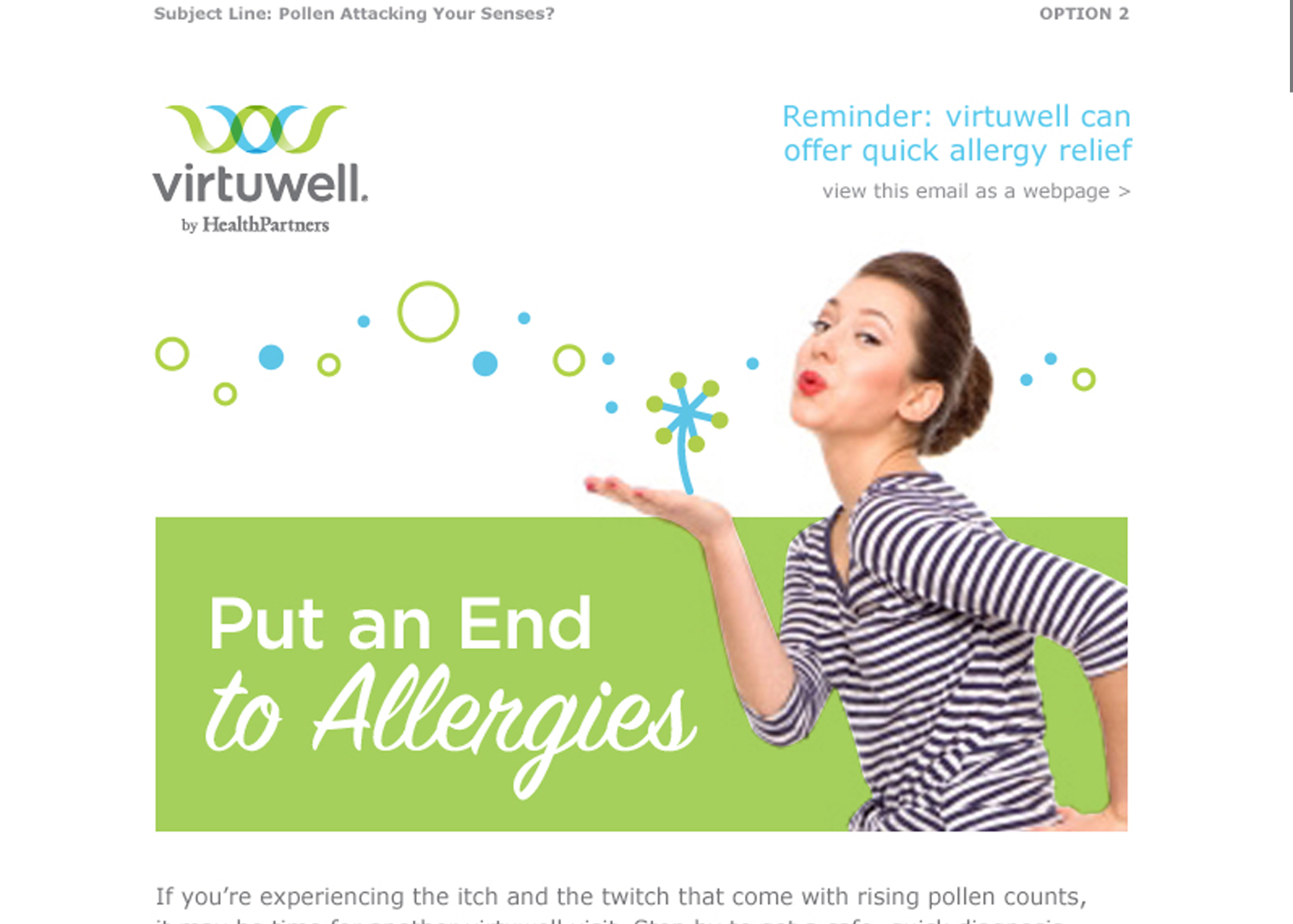virtuwell - Content Strategy | Email Copywriting