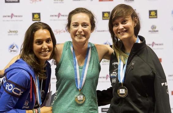 Maureen Beck: First Place in the World Paraclimbing Championship in Spain 2014