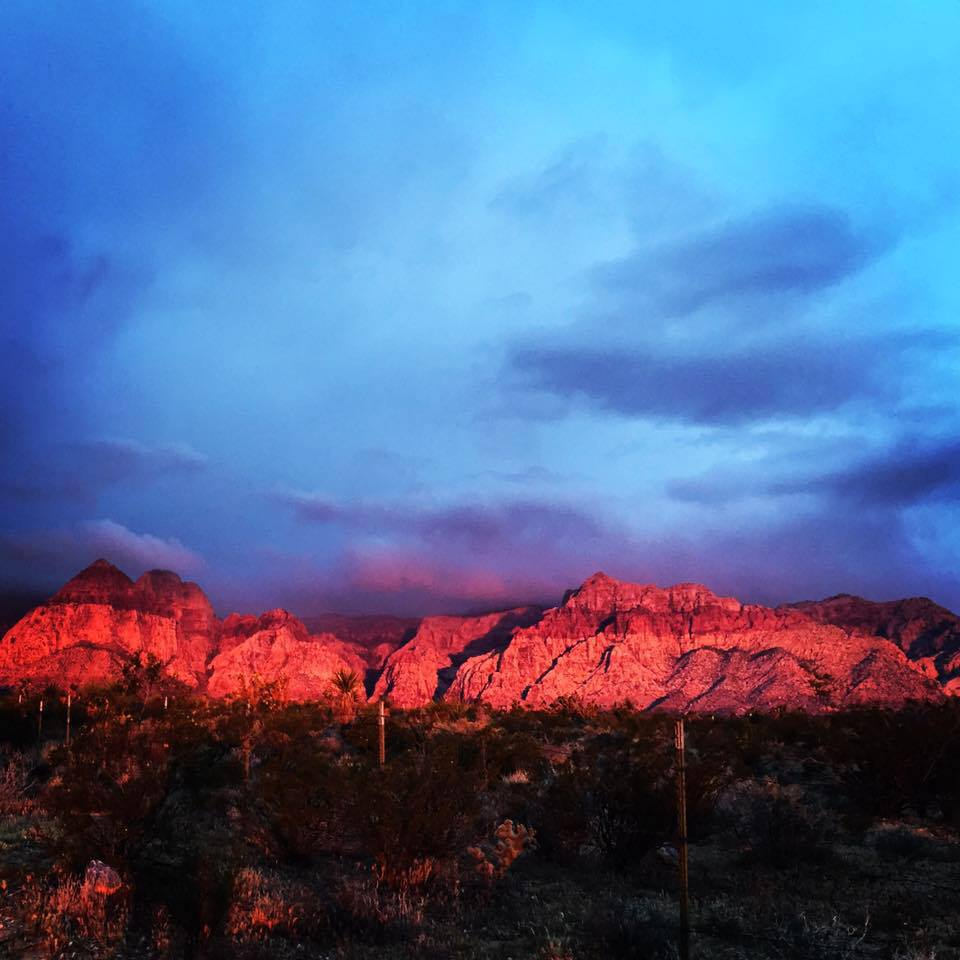 Sunrise on Red Rocks, Las Vegas NV