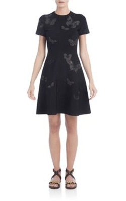 Valentino Butterfly Fit-And-Flare Dress