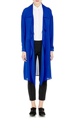 Ji Oh  Silk Trench Coat