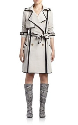 Lanvin Two-Tone Trench Coat