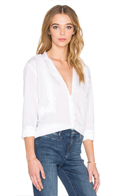 M.i.h Jeans  Ile Shirt in White