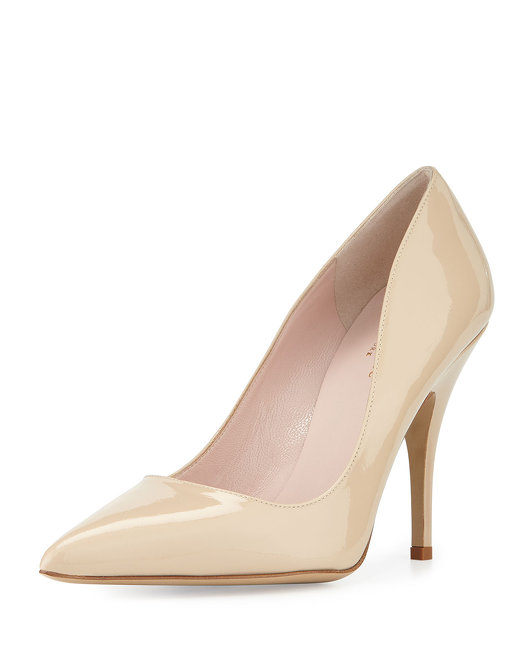 Kate Spade licorice patent leather point-toe pump