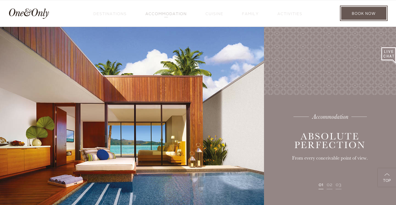 Hotel Room landing page