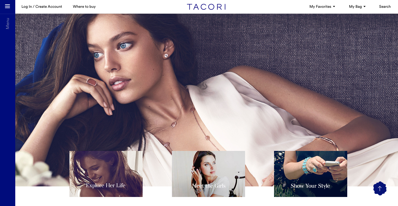 'She is Tacori' campaign landing page