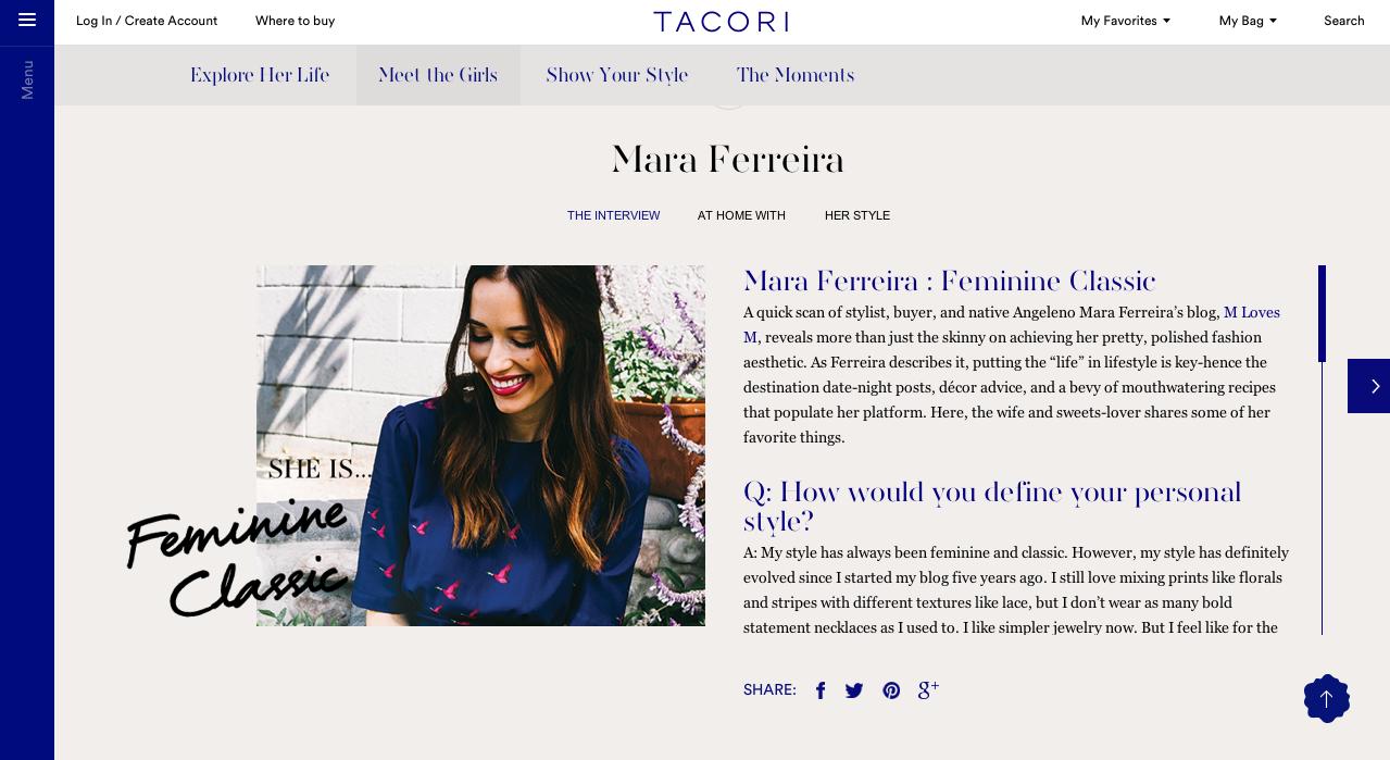 Tacori girl ambassadors (social media #sheistacori campaign)