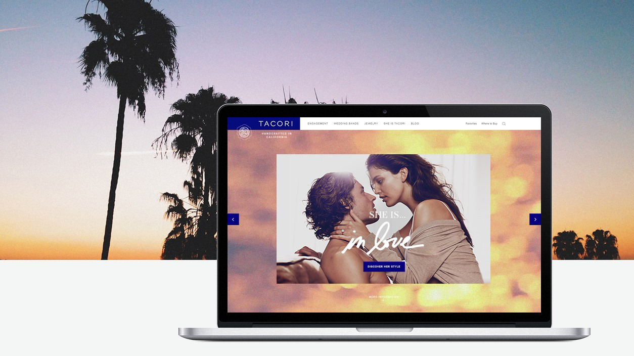 Tacori 'She is Tacori'  e-commerce website design and build